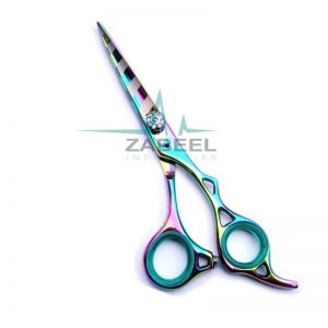 Barber Razor Edge Hair Cutting Scissor & Shears Multi Color ZaBeel