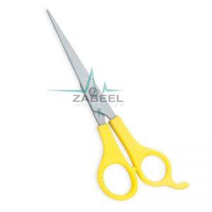 Plastic Handle Scissors Yellow ZaBeel